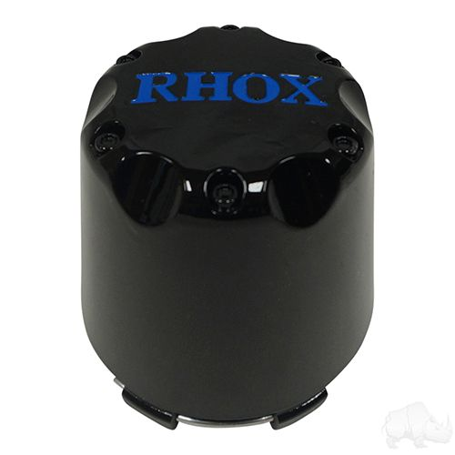 Center Cap, Black with Blue RHOX