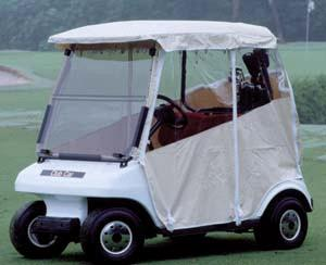 Club Car, DS 2000-06 Enclosure 3-sided fitted, (White), f/d Screen.