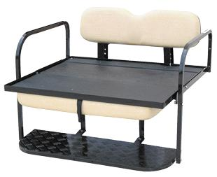 Club Car, Fold Down Seat Kit, White - Precedent