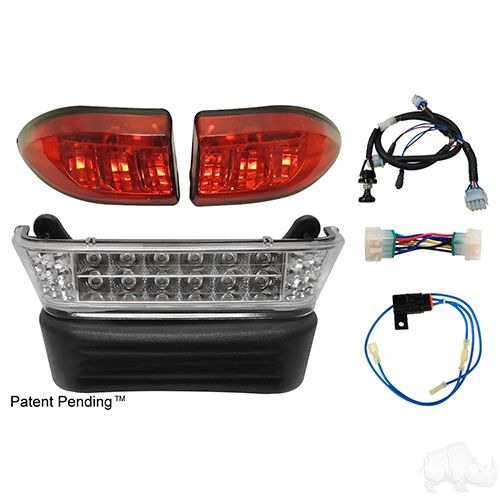 LED Light Bar Kit, Club Car Precedent Gas & Electric, 04-08.5 +, 12-48v