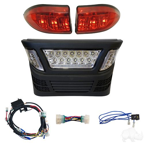 RHOX LED Light Bar Bumper Kit w/ Multi Color LED, Club Car Precedent Gas 04+ & Electric 04-08.5