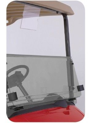 Tinted Fold Down Windshield Kit for EZGO RXV (Gasketed) (OEM)