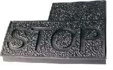 "Club Car, DS Brake Pedal Pad with ""STOP"""