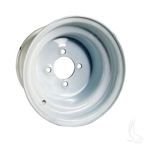 "Offset 10"" wheel steel, White"