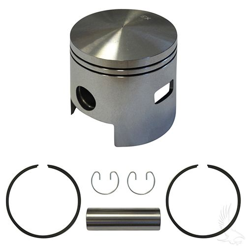 Piston and Ring Assembly, One Port +.25mm, EZGO 2-cycle Gas 80-88