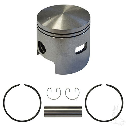 Piston and Ring Assembly, One Port +.50mm, EZGO 2-cycle Gas 80-88
