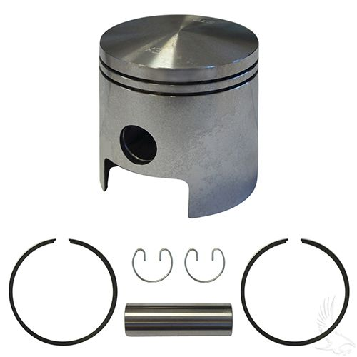 Piston and Ring Assembly, One Port Standard Size, EZGO 2-cycle Gas 80-88